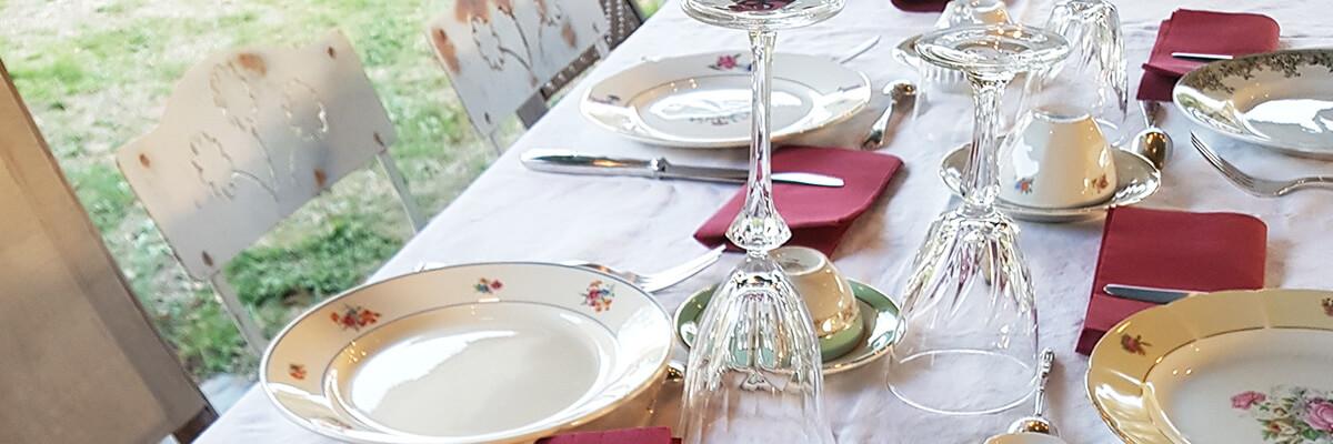 Déco de table vintage